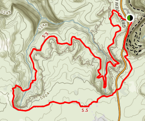 Neck Spring Trail Map