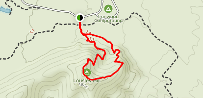 Lousley Hill Trail Map