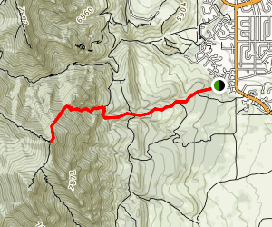 Bear Peak via Shanahan Ridge Map