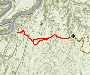 Confluence Overlook Trail Map