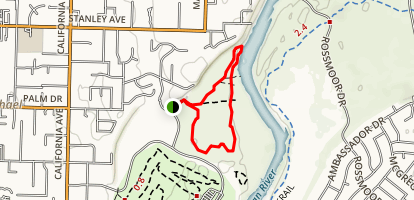 Effie Yeaw Nature Loop Trail Map