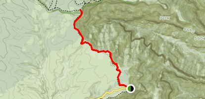 Ken Patrick Trail North from Point Imperial Map