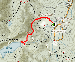 Twin Lakes Trail Map
