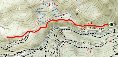 North Rim Trail to Eagle Rock Map