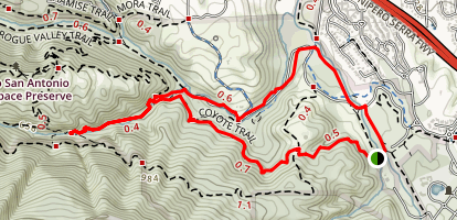Coyote and Wildcat Loop Trails  Map