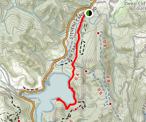Tony Look Trail to Stevens Creek Resevoir Map