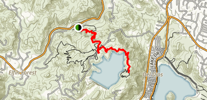 Lake Hodges Overlook Trail Map