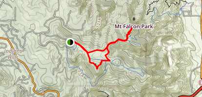 Mount Falcon Park Upper Loop Map