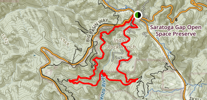 Big Basin and Castle Rock Loop Map