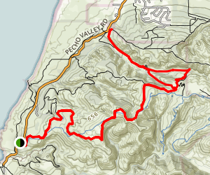 Hazard Peak Trail Map