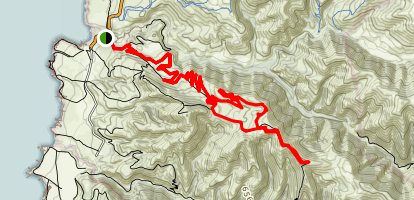Oats Peak Loop Trail Map