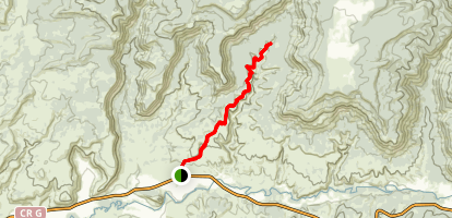 Sand Canyon Trail Map
