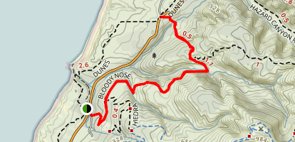 Bloody Nose Trail Map