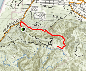 Upper Hazard Canyon Trail Map