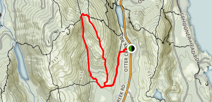 A. Murray Young Path via Canon Brook  and Dorr South Ridge Trail Map