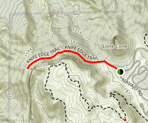Knife Edge Trail Map