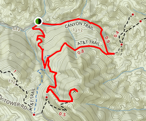 Cerro Alto Trail Loop Map