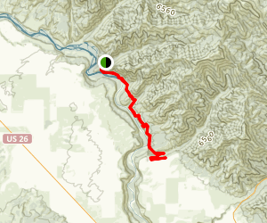 South Fork Snake River Trail Map