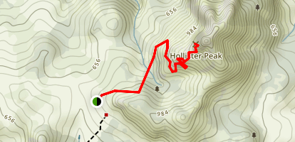 Hollister Peak Trail Map
