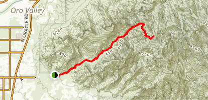 Pima Canyon to Mount Kimball Map