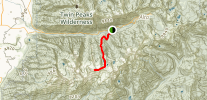 Pfeifferhorn (via Red Pine Lakes Trail) Map