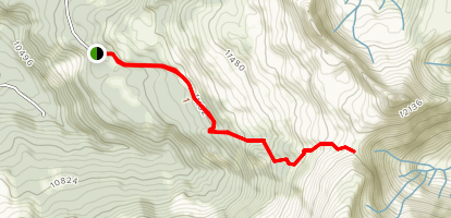 Sharkstooth Pass Trail Map