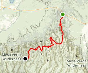 Mesa Verde National Park Scenic Drive Map