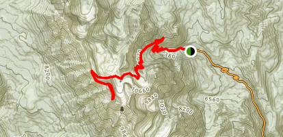 Mount Timpanogos Trail from Aspen Grove Map