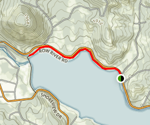 Row River Trail at Dorena Lake Map