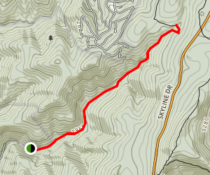 East Branch Naked Creek Trail Map