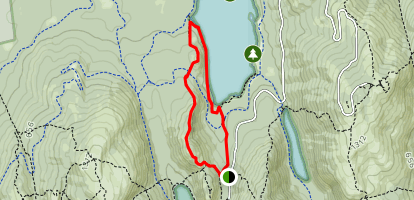 Jordan Pond Carry to Eagle Lake and Bubbles Trails Loop Map