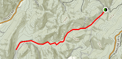 Allen Hollow Trail Map