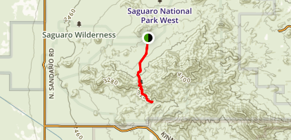 Sendero Esperanza Trail Map