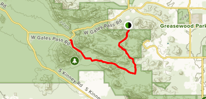 David Yetman Trail Map