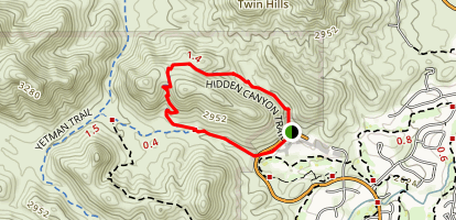 Hidden Canyon Bowen Loop Trail Map