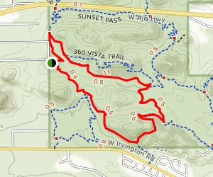 Bittersweet Sunset Loop Trail Map