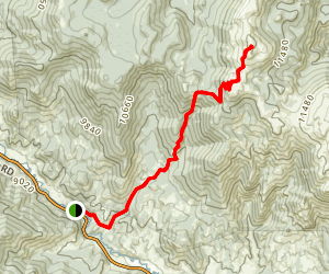 Bison Peak Summit Trail Map