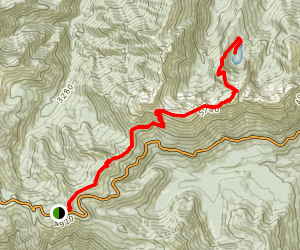 Klahhane Ridge Trail to Lake Angeles Map