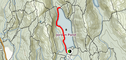 Jordan Pond West Side Trail Map