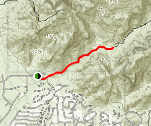 Pima Canyon Trail Map