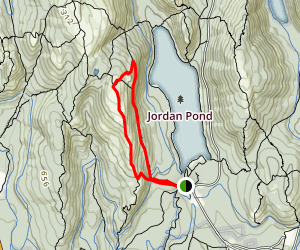Jordan Cliffs Trail to Penobscot Mountain Map