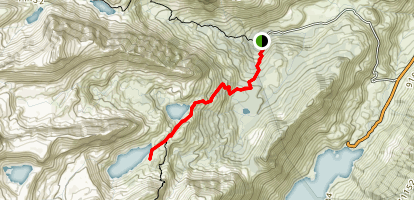 North Lake to the Lamarck Lakes Map