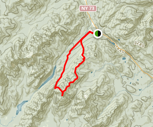 Bear Den Trail to Dial Mountain and Nippletop Map