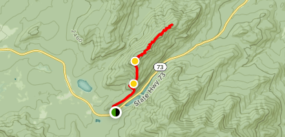 Pitchoff Mountain and Balancing Rocks Trail Map