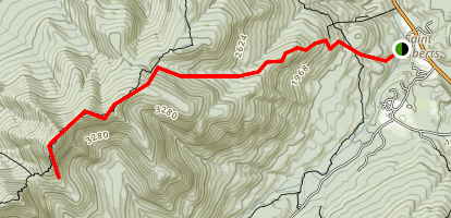 White Trail to Lower Wolfjaw Mountain Map