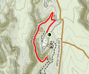 Spruce Canyon Trail Map