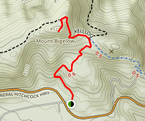 Mount Bigelow Trail Map