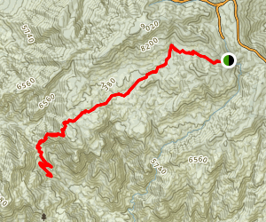 Wilderness of Rocks Trail Map
