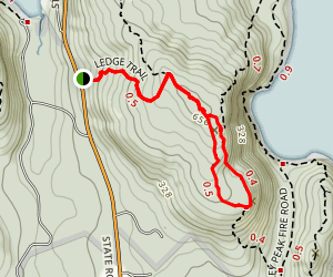 Saint Sauveur Mountain and Valley Peak Loop Trail Map
