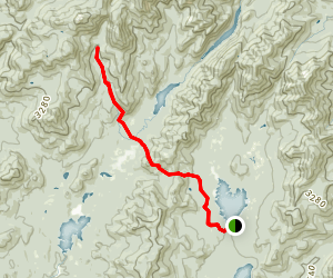 Elk Lake to Marcy Trail Map